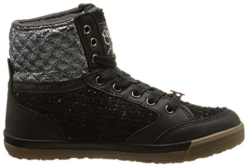Le Temps des Cerises Lc Heritage, Sneakers Hautes fille Noir (Tweed Black)