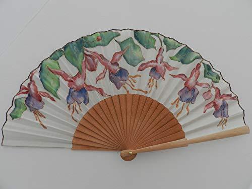 Abanico español/abanico pintado a mano/Abanico pendientes de la reina/Abanico de madera/Abanico artesanal