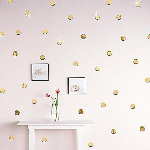 Wandtattoo Jamicy® 100/50pcs Art und Weise DIY 3D Runder Spiegel Wand Aufkleber Große Uhr Wandaufkleber für Kinderzimmer Babyzimmer Decer (50Pcs 5CM, (Große Wand-dekor)