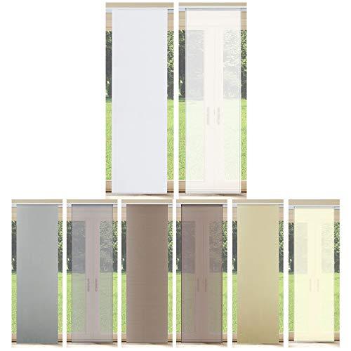 Rapid Teck Schiebevorhang Schiebegardine Weiß Transparent 60cm x 245cm Flächenvorhang Gardine