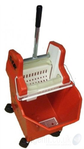 Professional SYR Kentucky style Lady Bug Mop Bucket (RED) with Wringer