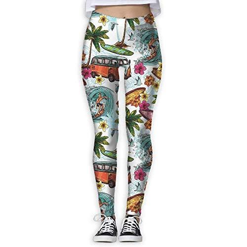 Yogahosen, Trainingsgamaschen,Hawaiian Decorations Women's High Waist Yoga Pants Tummy Control Workout Yoga Pants Leggings