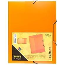 idena® DIN Box File with Elastic Strap a4 Orange