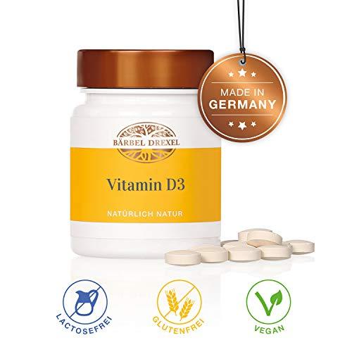 BÄRBEL DREXEL Vitamin D3 Vegan Presslinge + Hochdosiert, Sonnenvitamine, Vitamin-D3-Mangel (100 Stk) 100{44094dff25332971fb30564845f9e8abe62a3356b4f10258a6bc9ec5b5aa3120} Vegane Herstellung Deutschland Vitamin D, Immunsystem