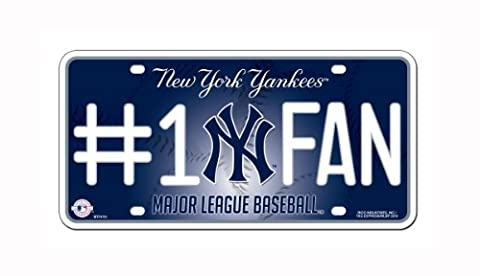 MLB New York Yankees #1 Fan Metal Tag