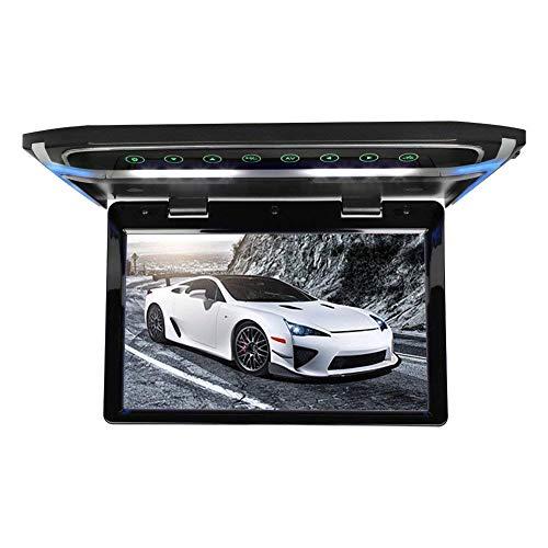 Z-SGYX 10,1 Zoll Car Flip Down Monitor 1080P HD TFT LCD Roof Monitor Car SD MP3 MP5 LED Overhead Video Player mit USB TF HDMI FM Flip Down Monitor,Black