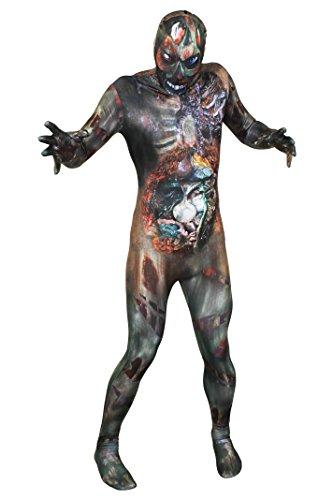 ILOVEFANCYDRESS Erwachsene Unisex Halloween Zombie Skin Suit. Print auf der Vorder- und Rückseite (Zombie Skin Suit Kind Kostüm)