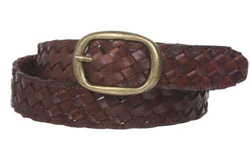 beltiscool 11/4'de las mujeres trenzado cinturón de piel - Marrón - Large/X-Large - 102 cm