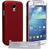 YouSave Samsung Galaxy S4 Tasche Harte Hybride Rückseite Hülle - Rot