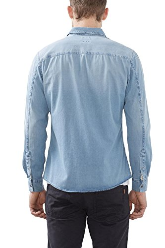 edc by Esprit 017cc2f001, Chemise Casual Homme Bleu (Blue Light Wash)