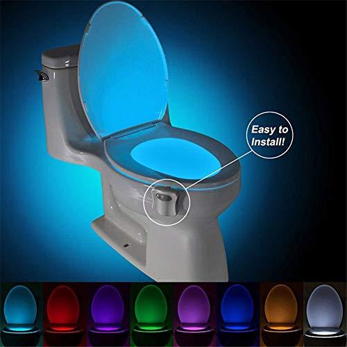 e, mit Infrarot-Bewegungssensor, für Badezimmer, Toilettenschüssel, Nachtlicht Multi ()