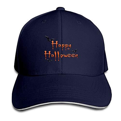 ZMYGH Happy Halloween Fly Bat Adjustable Snapback Peaked Sandwich Baseball Caps Unisex