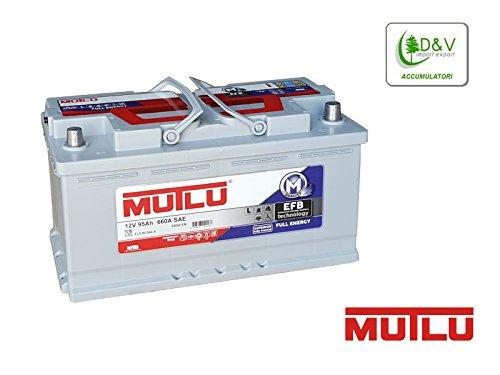 BATTERIA PREMIUM BRAND MUTLU 95Ah 660A (EN) 12V EFB FULL ENERGY DEEP CYCLE