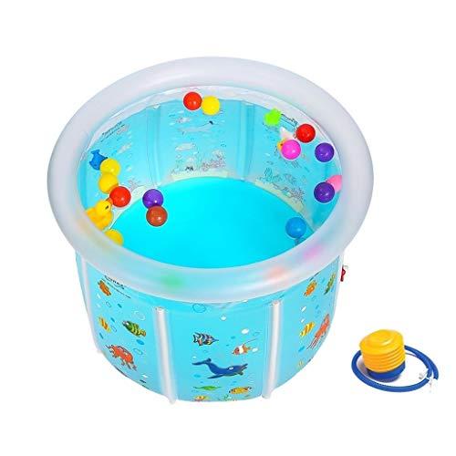 HUUQ HRQ Soporte de bañera Inflable for niños Piscina Redonda Gruesa Transparente Plegable for bebés...