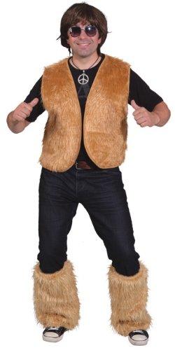 Orlob Fell Weste in braun zum Damen Kostüm an Karneval Fasching Gr.L/XL (Fell Weste Kostüm)