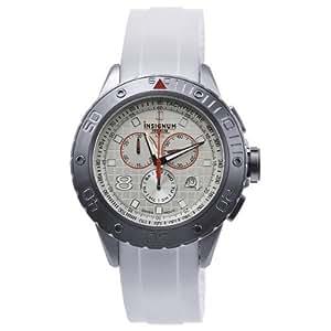 Insignum - IP212313 - Montre Homme - Quartz - Chronographe - Chronomètre - Bracelet Caoutchouc Blanc