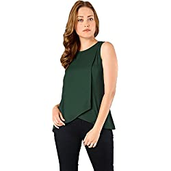 J B Fashion Women American Creap Musterd Color Top (green, X-Large)