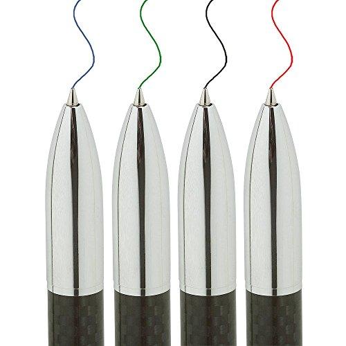 Penna a sfera 4 in 1 Carbon, multi touch, 4colori