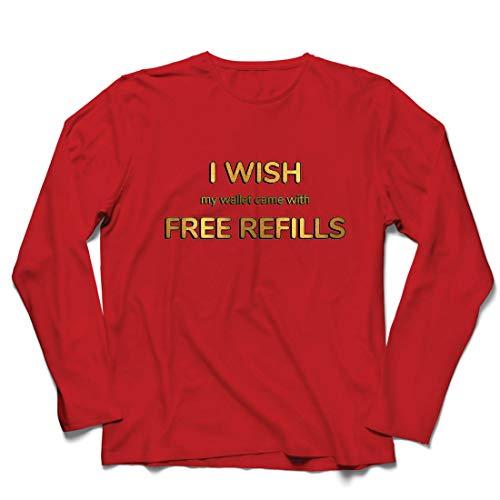 Lehrer Männliche Kostüm - lepni.me Herren T Shirts Ich wünschte, Meine Brieftasche wäre mit kostenlosen Nachfüllungen ausgestattet. (Large Rot Mehrfarben)