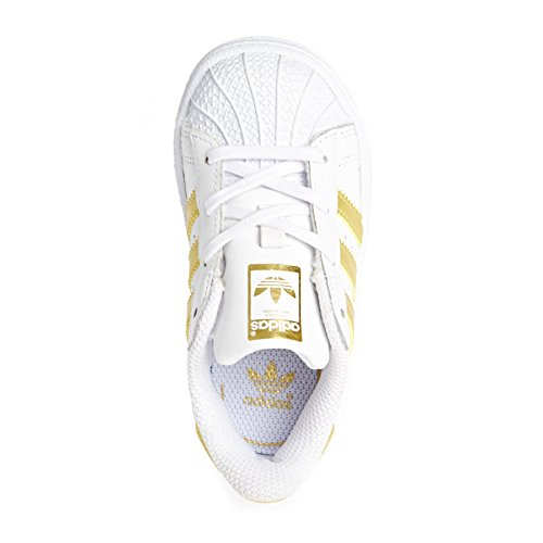 ADIDAS SUPERSTAR SNEAKERS WHITE / GOLD white