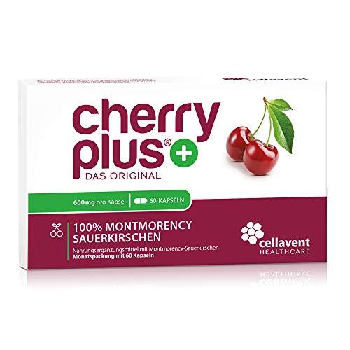 Cherry PLUS Kapseln aus der Montmorency-Sauerkirsche (600mg) - 50:1 Konzentration - 60 Kapseln ohne Zusätze - vegan