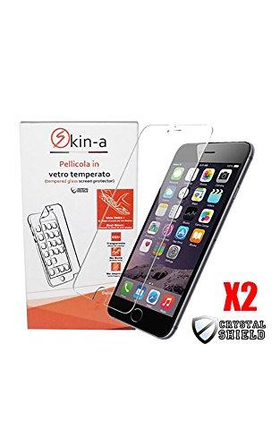 [X2Pack] skin-a ® Displayschutzfolie aus gehärtetem Glas für Apple iPhone 6/6S Iphone Skin Pack