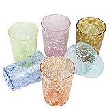 Set de 6Original Murano Vasos puntos en diferentes colores