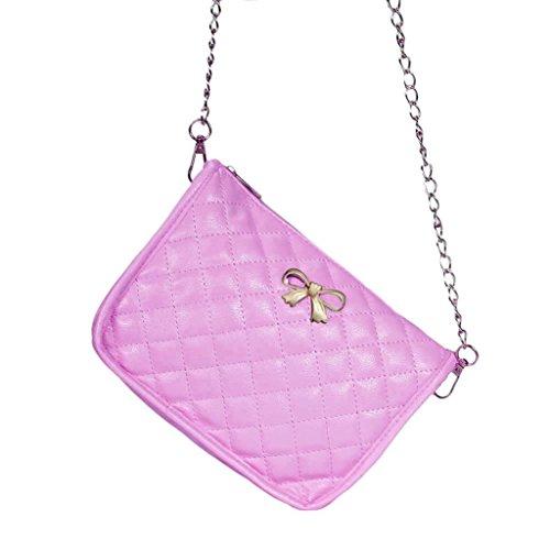Hiroo Borsa a tracolla Donne Signora Moda Borsetta Leather Crossbody Cartella Purse Bag Sacchetto di spalla in pelle Handbag Shoulder Bag Hobo Messenger Bag Regalo di festival (Beige) Rosa