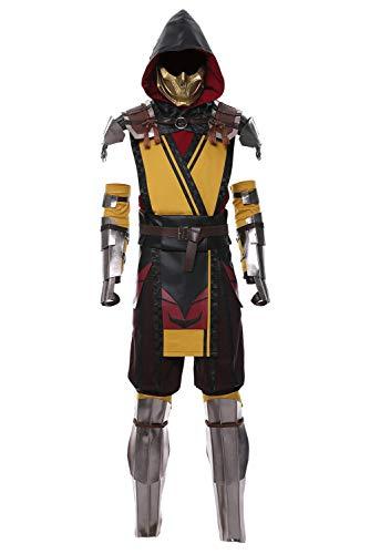 MingoTor Mortal Kombat 11 Scorpion Cosplay Kostüm Herren - Scorpion Cosplay Kostüm