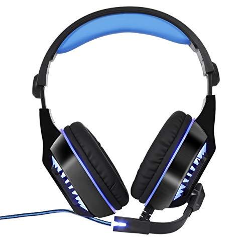 Wired GM-2 Gaming Headset Kopfhörer mit Mikrofon LED-Licht Stereo Surround-Kopfhörer für Computer-Gamer Smartphones (blau) Gm-stereo