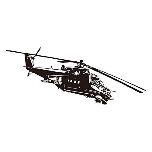 jiushizq Hubschrauber Wandaufkleber Wohnkultur Kinder Schlafzimmer Wandtattoos Flugzeug Kreative Cartoon Wandbild 44 cm X 107 cm