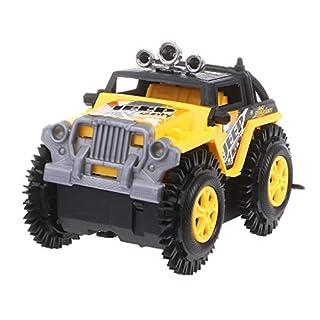 Kofun Electric Stunt Auto Spielzeug, Elektrische Mini Roll Stunt Off Road Truck Klettern Auto Batteriebetriebene Kinder Geschenk Gelb