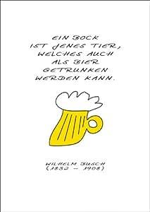 humor spruchkarte ein bock ist jenes tier welches auch