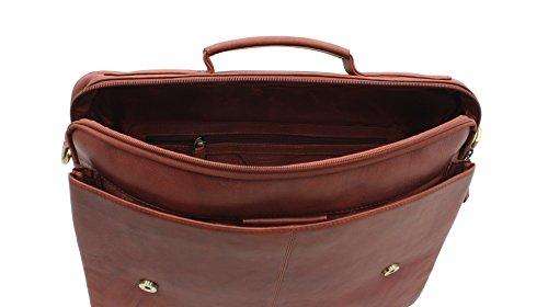 Visconti Sacoche en cuir Style 658 A4 Marron - marron