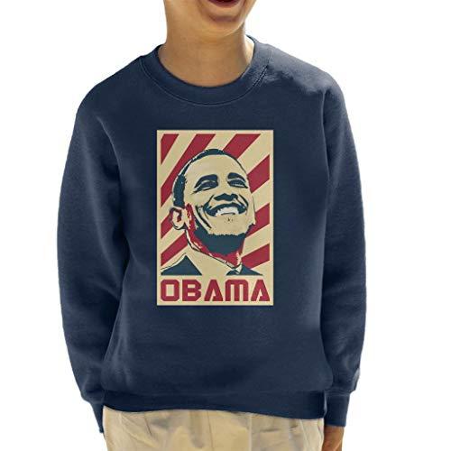 Cloud City 7 Barack Obama Retro Propaganda Kid's Sweatshirt Barack Obama Sweatshirt