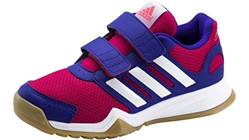 Adidas INTERPLAY CF K Hallentrainingsschuh - Kinder - pink/weiss/lila, Größe:29
