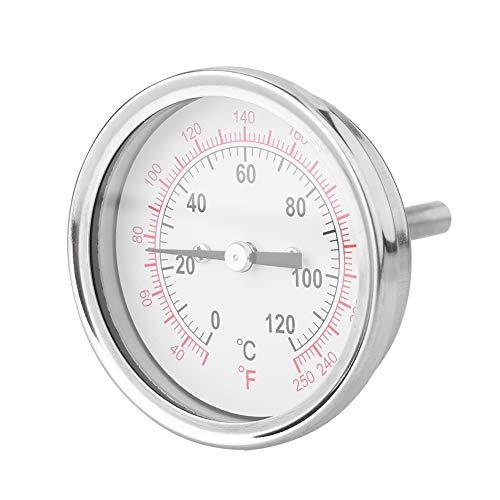 VBESTLIFE 62mm 120 ℃ Hochtemperatur Bimetall Thermometer Ofen Grill BBQ Analog Dial Double Scale,geeignet zur Temperaturmessung in Öfen, Grills usw.