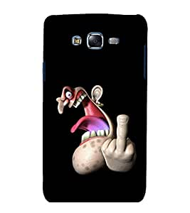 printtech Angry Face Back Case Cover for Samsung Galaxy Grand 2 G7102 / Samsung Galaxy Grand 2 G7106
