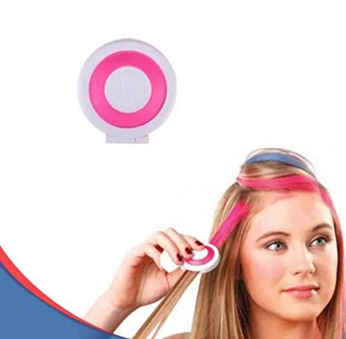 Haarkreide Kamm, Pink, für 1 Tages Anwendung, schöner Color Effekt, leicht auswaschbar, Festivalkracher und Weggeh tauglich