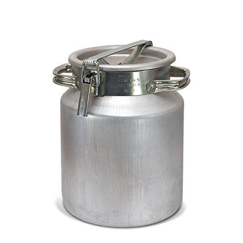 posylka.de Aluflasche Milchkanne Alufass Aluminium Behälter Fass Kanne Bidon Fljaga (20 Liter)