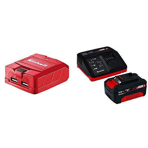 Einhell USB Akku Adapter TE-CP 18 Li USB Solo Power X-Change (Lithium Ionen, 18 V) + Starter Kit Akku und Ladegerät Power X-Change (Lithium Ionen, 18 V, 3,0 Ah Akku und Schnellladegerät) Starter Kit Handy