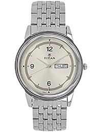 Titan Men's Contemporary Work Wear Mineral Crystal Quartz Analog Water Resistant Wrist Watch