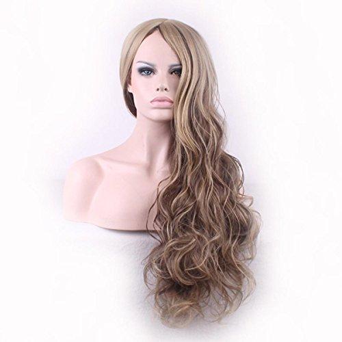 SHKY Damen-Damen-Mädchen-Mischungs-Blondine lange lockige gebraucht kaufen  Wird an jeden Ort in Deutschland