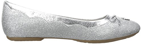 White Mountain Cece Femmes Synthétique Ballerines Silver-Glitter