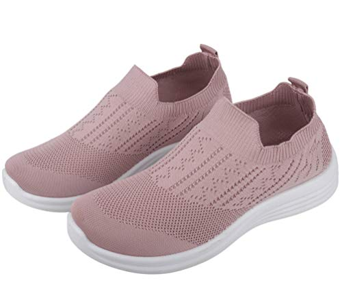 Irsoe Cassiey Women's Tread Walk Comfortable and Lightweight Running Shoes Peach