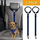 Docamor verstellbarer Hunde-Sicherheitsgurt fürs Auto, Hundegeschirr, Auto-Sicherheitsleine für Hunde oder Katzen, verstellbar von 45,7 bis 76,2 cm, Nylon-Stoff, Nelkenfarbe