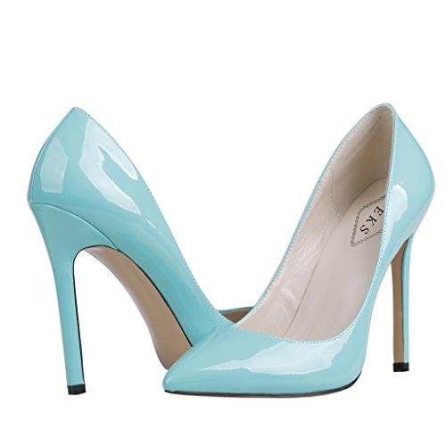 EKS - scarpe tipo décolleté con tacco alto Donna Blau-A-Lackleder
