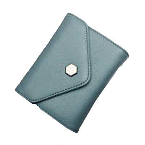WU Zhi Lady In Pelle La Posizione Multi-card Borsa Portafoglio Pacchetto Di Carta Blue