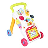 Popsugar 2 in 1 First Steps Baby Walker Sounds and Lights Fun Push