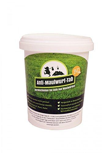 Anti-Maulwurf-Tab BIO 1kg Eimer, Maulwurfschreck, Maulwurfbekämpfung, Wühlmausschreck, Wühltierfrei, Maulwurffalle, Maulwurfstopp, Maus-Abwehr
